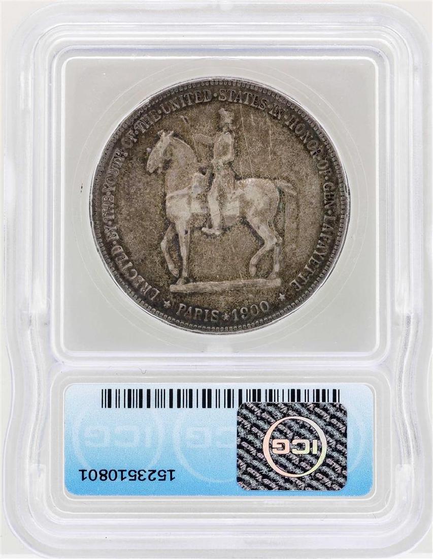 1900 $1 Lafayette Silver Dollar Commemorative Coin ICG - 2
