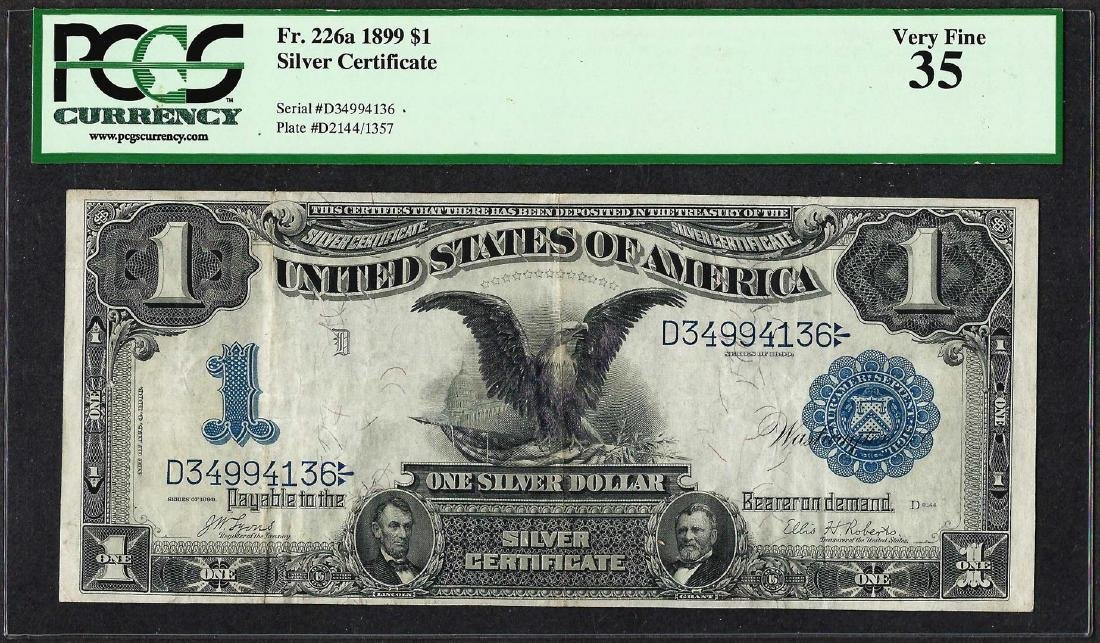 1899 $1 Black Eagle Silver Certificate Note Fr.226a