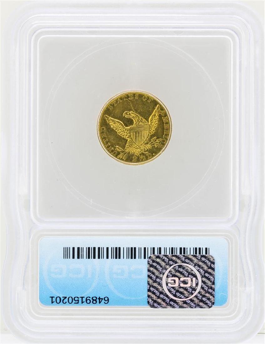 1835 $2 1/2 Classic Head Quarter Eagle Gold Coin ICG - 2