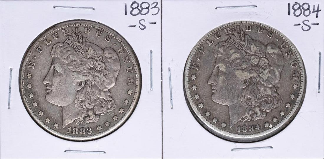Lot of 1883-S & 1884-S $1 Morgan Silver Dollar Coins
