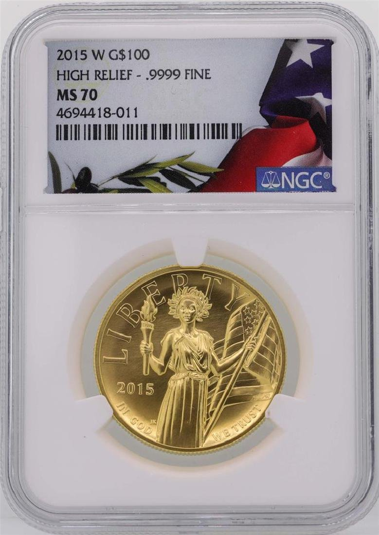 2015-W $100 American Liberty High Relief Gold Coin NGC
