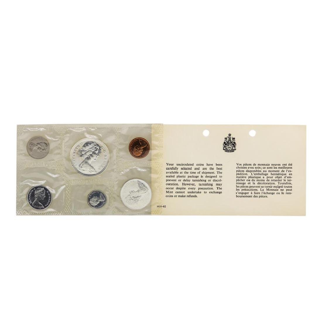 1967 Canada (6) Coin Proof Set w/ Envelope - 2