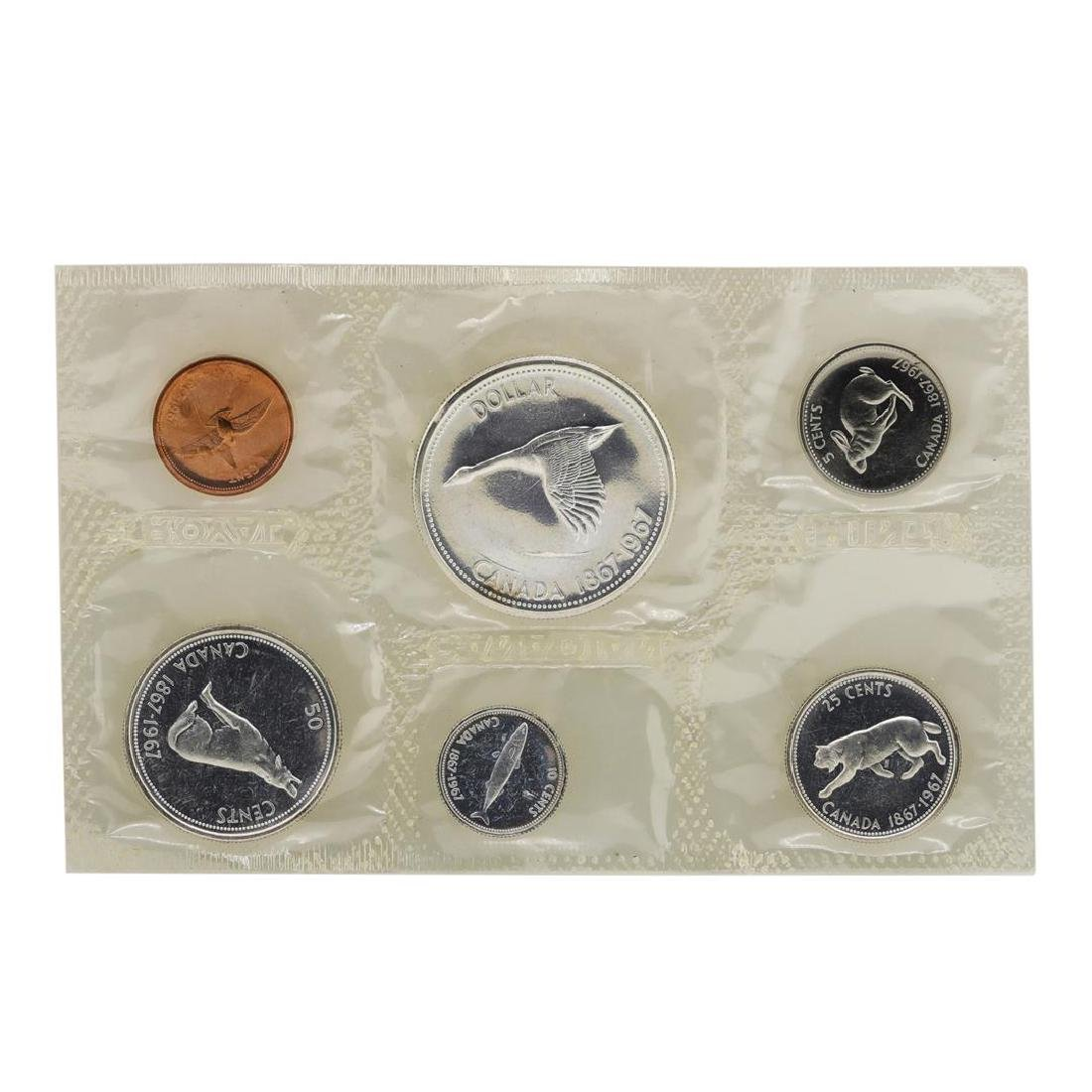 1967 Canada (6) Coin Proof Set w/ Envelope - 3