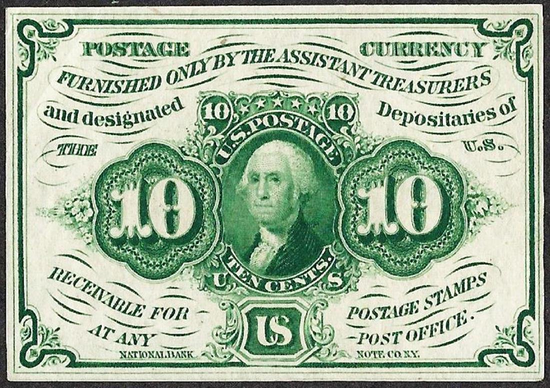 July 17, 1862 10 Cents First Issue Fractional Currency