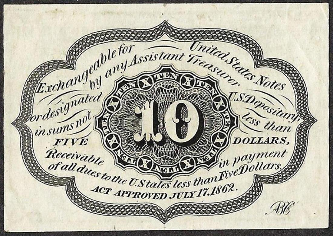 July 17, 1862 10 Cents First Issue Fractional Currency - 2