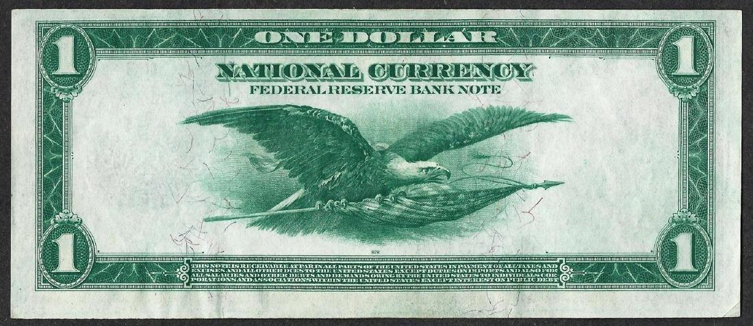 1918 $1 Federal Reserve Bank Note Philadelphia - 2