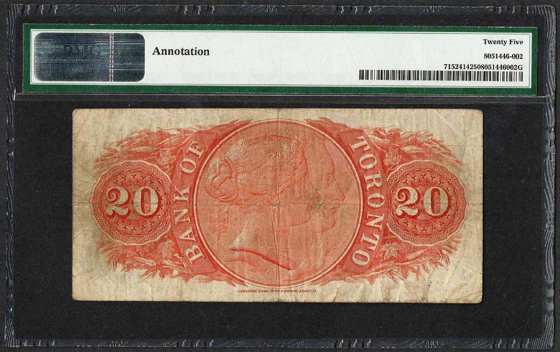 1935 $20 Bank of Toronto, Canada Note PMG Very Fine 25 - 2