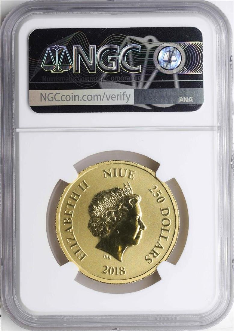 2018 $250 Niue Scrooge McDuck Gold Coin NGC MS69 - 2
