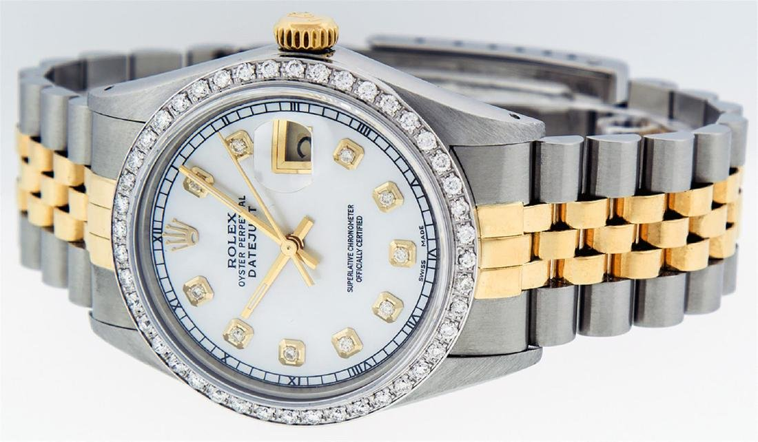 Rolex Men's Two Tone 14K Mother Of Pearl Diamond 36MM - 2