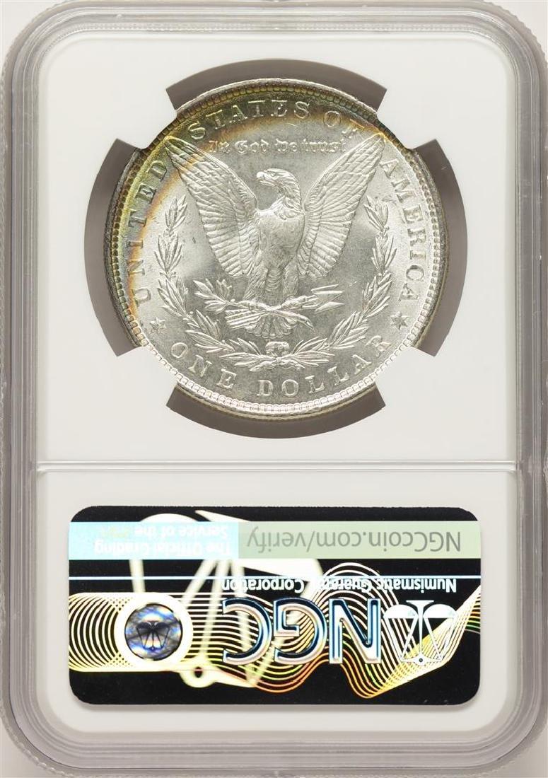 1886 $1 Morgan Silver Dollar Coin NGC MS63 Amazing - 2