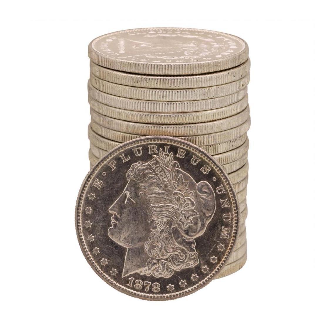Roll of (20) Brilliant Uncirculated 1878-S $1 Morgan