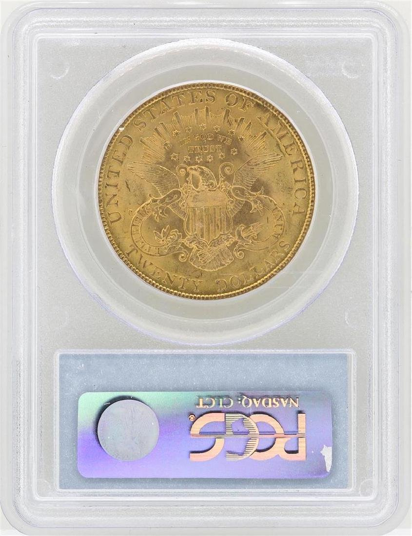 1907 $20 Liberty Head Double Eagle Gold Coin PCGS MS61 - 2