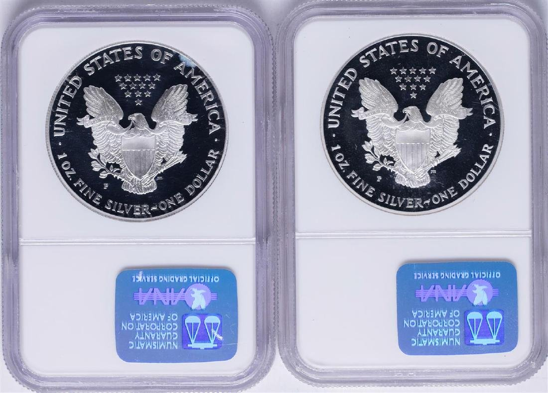 Lot of 1998-P & 1999-P $1 American Silver Eagle Proof - 2