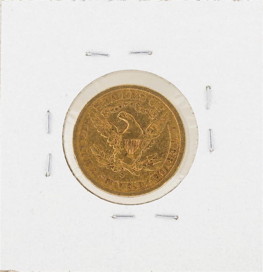 1905-S $5 Indian Head Half Eagle Gold Coin - 2