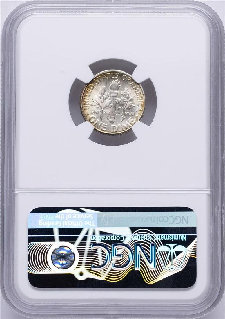1949-D Roosevelt Dime Coin NGC MS66 AMAZING Toning - 2