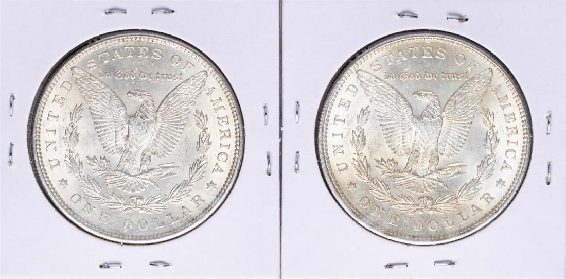 Lot of (2) 1896 $1 Morgan Silver Dollar Coins - 2