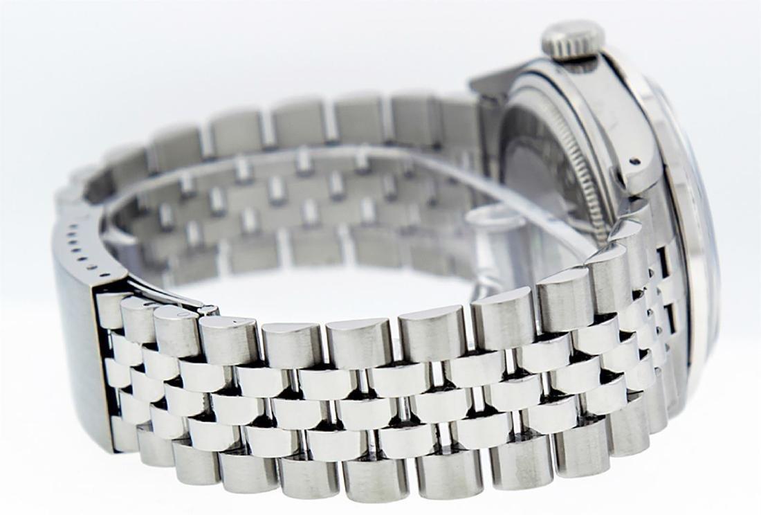 Rolex Men's Stainless Steel 36mm Black Diamond Dial - 4