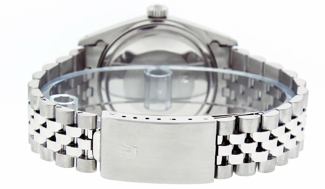 Rolex Men's Stainless Steel 36mm Black Diamond Dial - 5