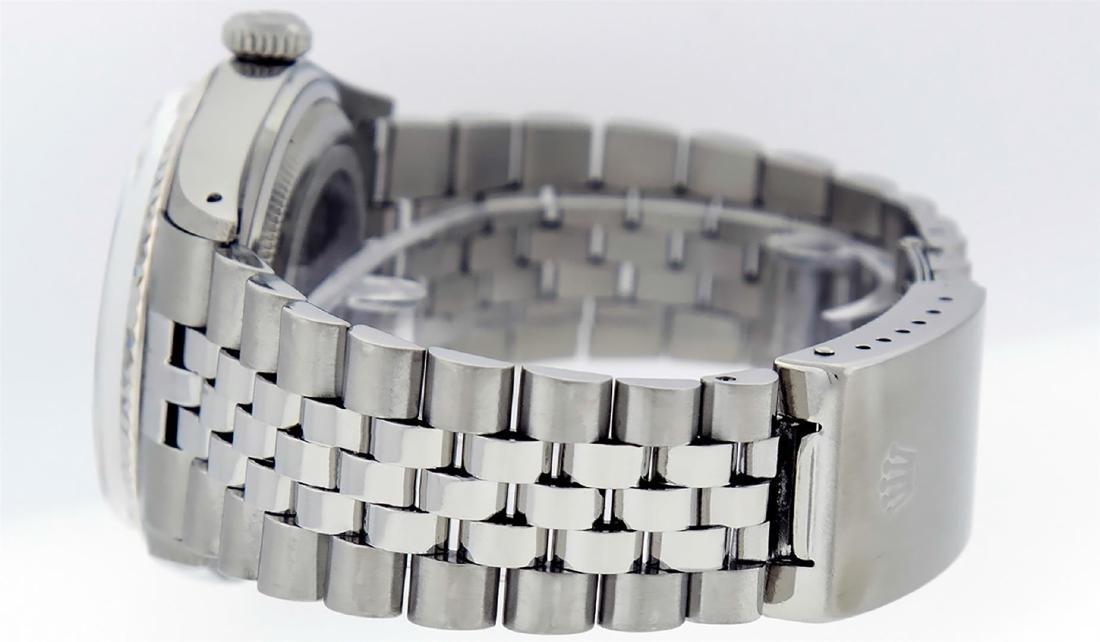 Rolex Men's Stainless Steel 36mm Black Diamond Dial - 7