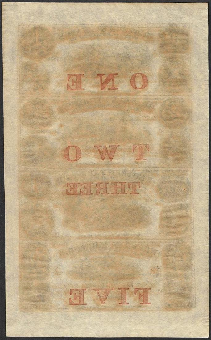 Uncut Sheet of 1857 Western Exchange Fire & Marine - 2