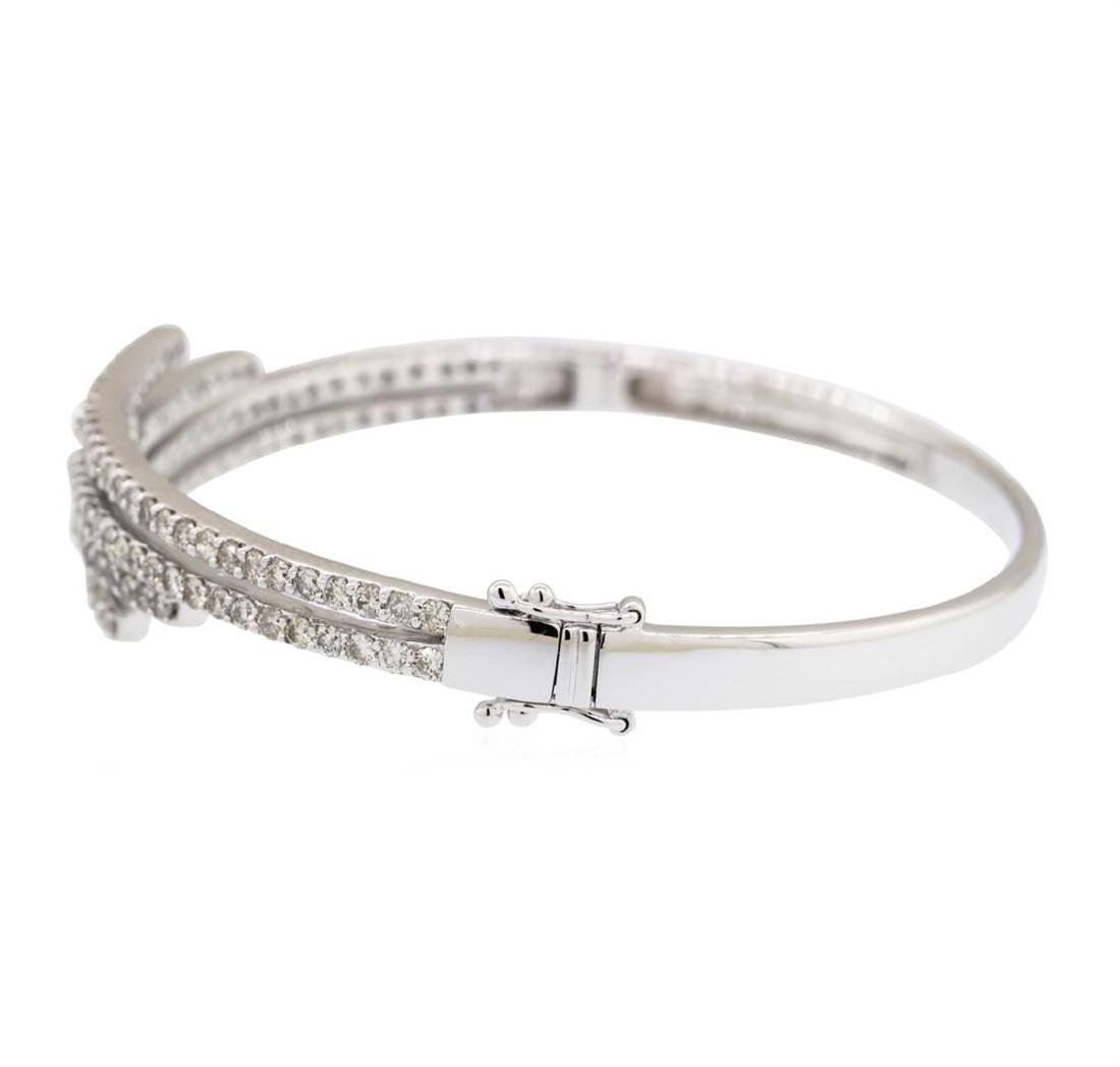 14KT White Gold 3.00 ctw Diamond Bangle Bracelet - 3