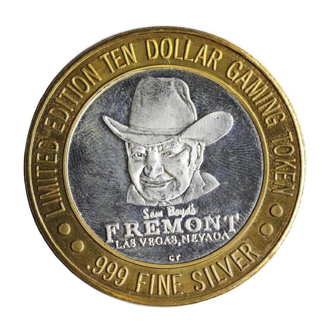 .999 Silver Sam Boyd's Fremont Hotel $10 Casino Limited