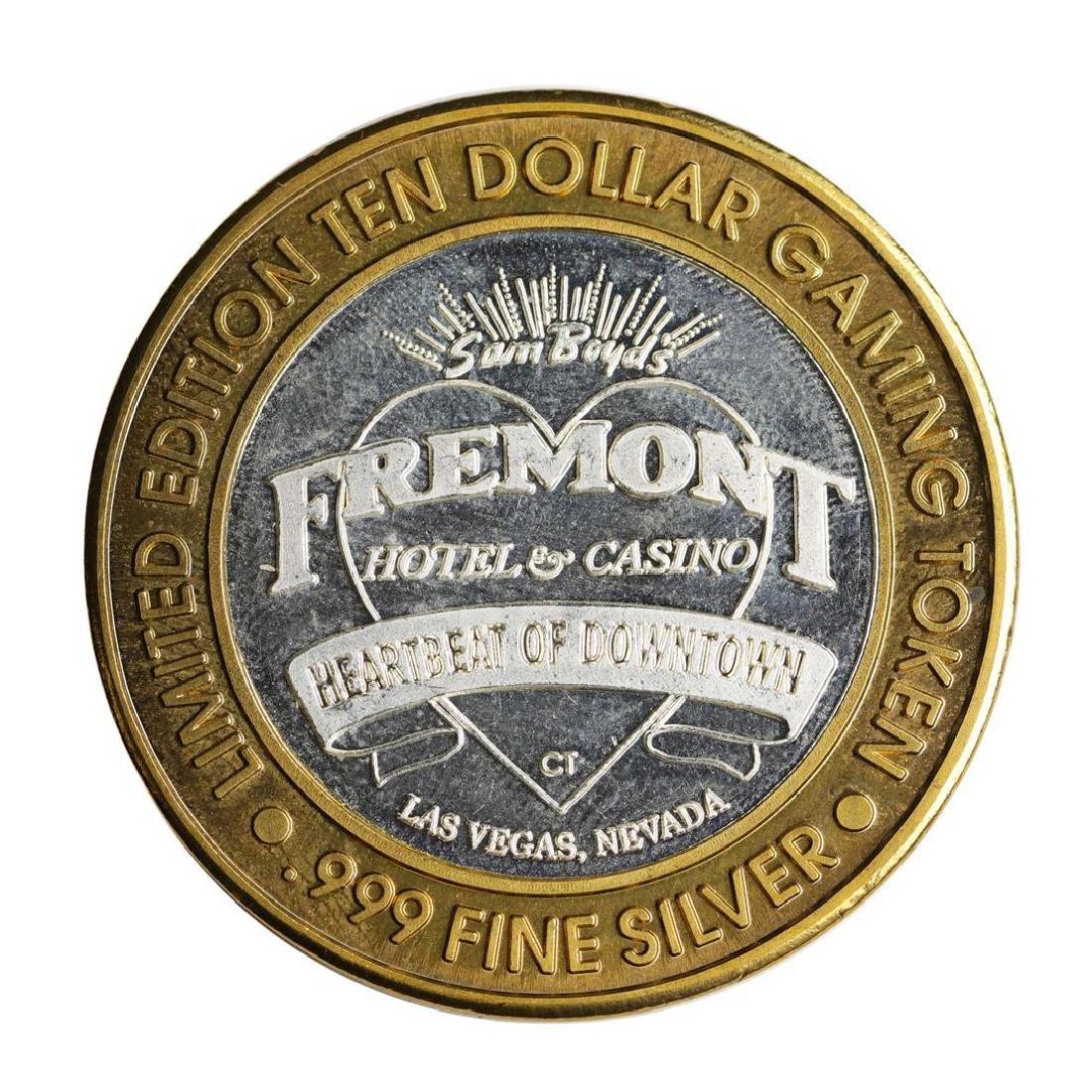 .999 Silver Sam Boyd's Fremont Hotel $10 Casino Limited - 2