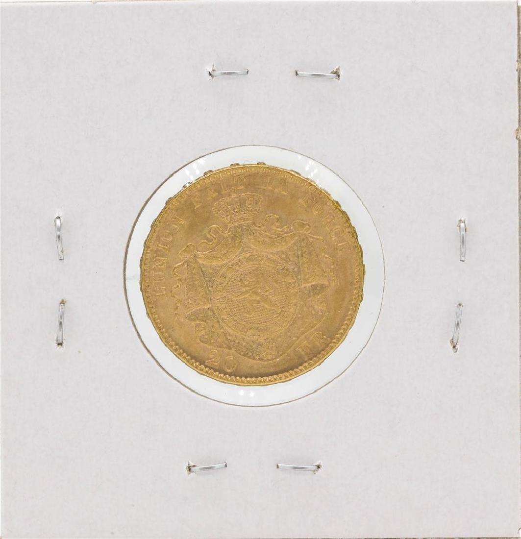 1878 Belgium 20 Francs Gold Coin - 2