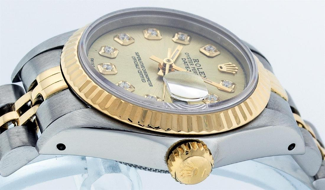 Rolex Ladies Two Tone 14K Champagne Diamond 26MM - 3