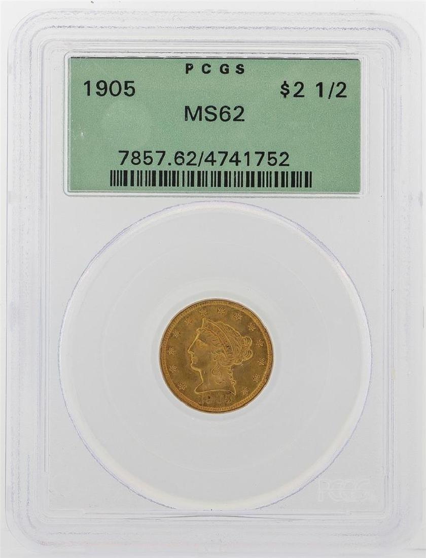 1905 $2 1/2 Liberty Head Quarter Eagle Gold Coin PCGS