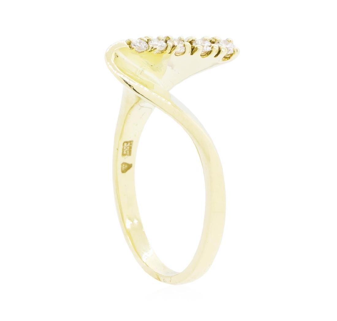 14KT Yellow Gold Lady's 0.10 ctw Diamond Ring - 4