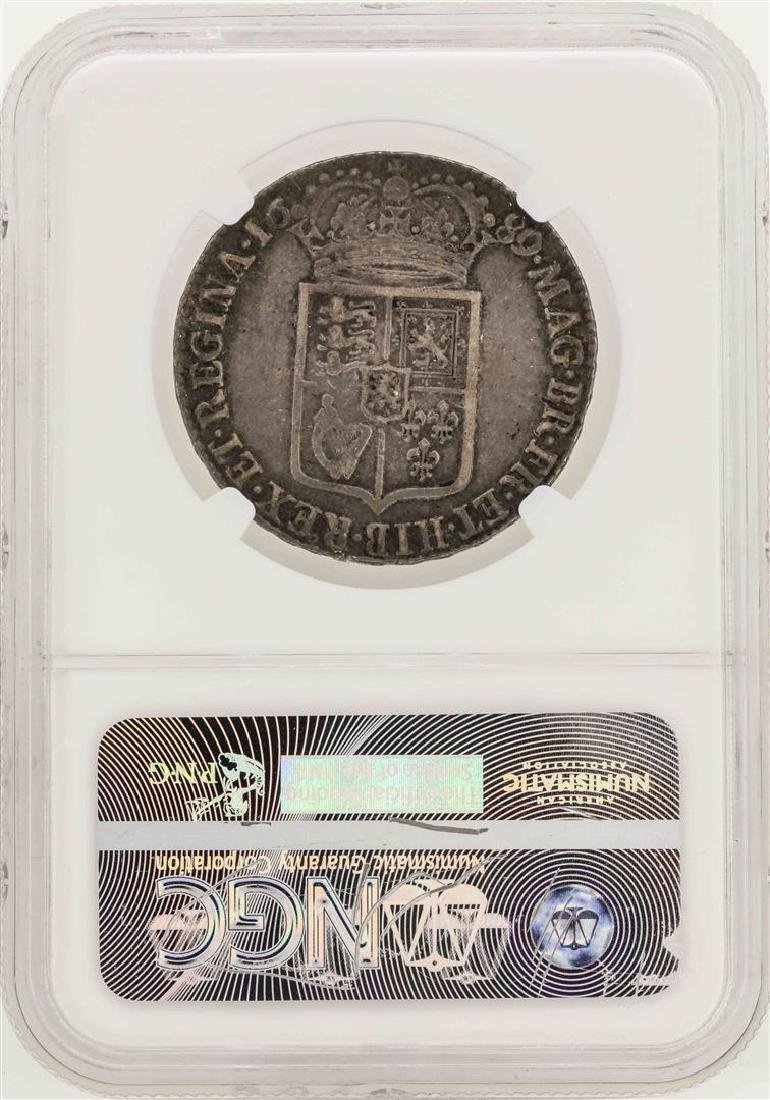 1689 England 1/2 Crown Coin NGC VF30 - 2