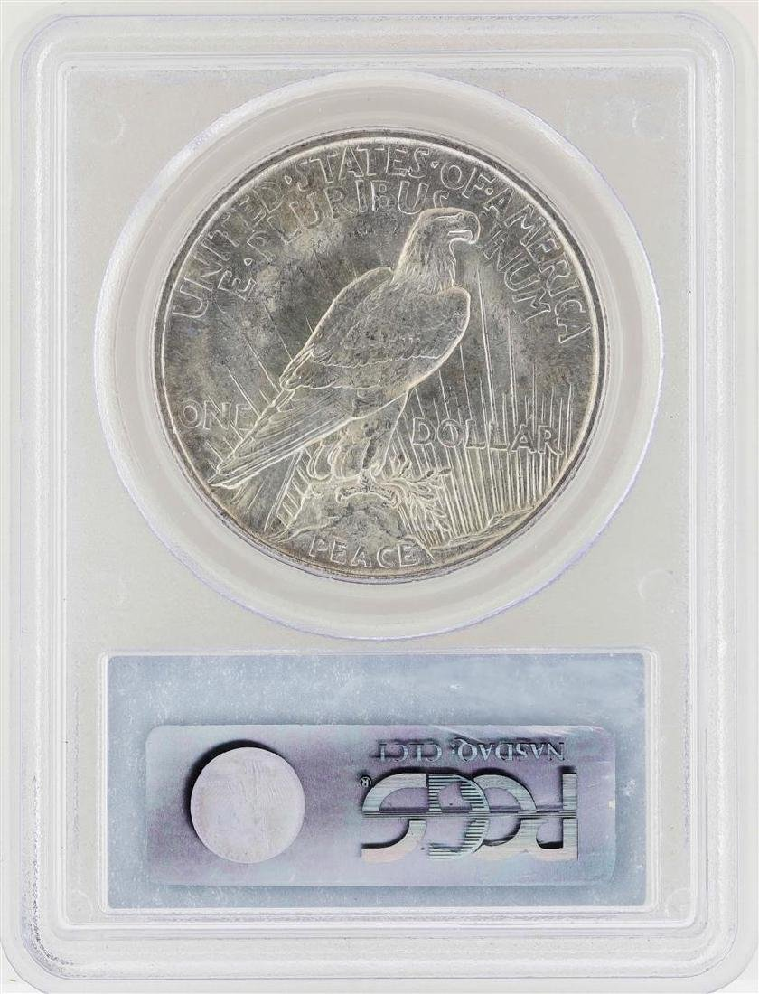 1921 $1 Peace Silver Dollar Coin PCGS MS64 - 2