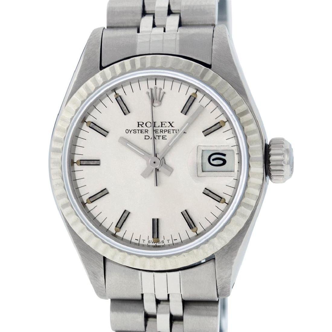 Rolex Ladies Stainless Steel Silver Index 26MM Datejust