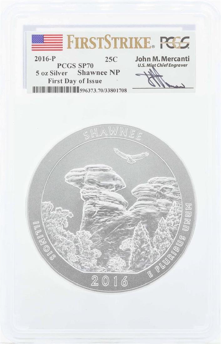 2016-P Shawnee 5 oz. Silver Quarter Proof Coin PCGS
