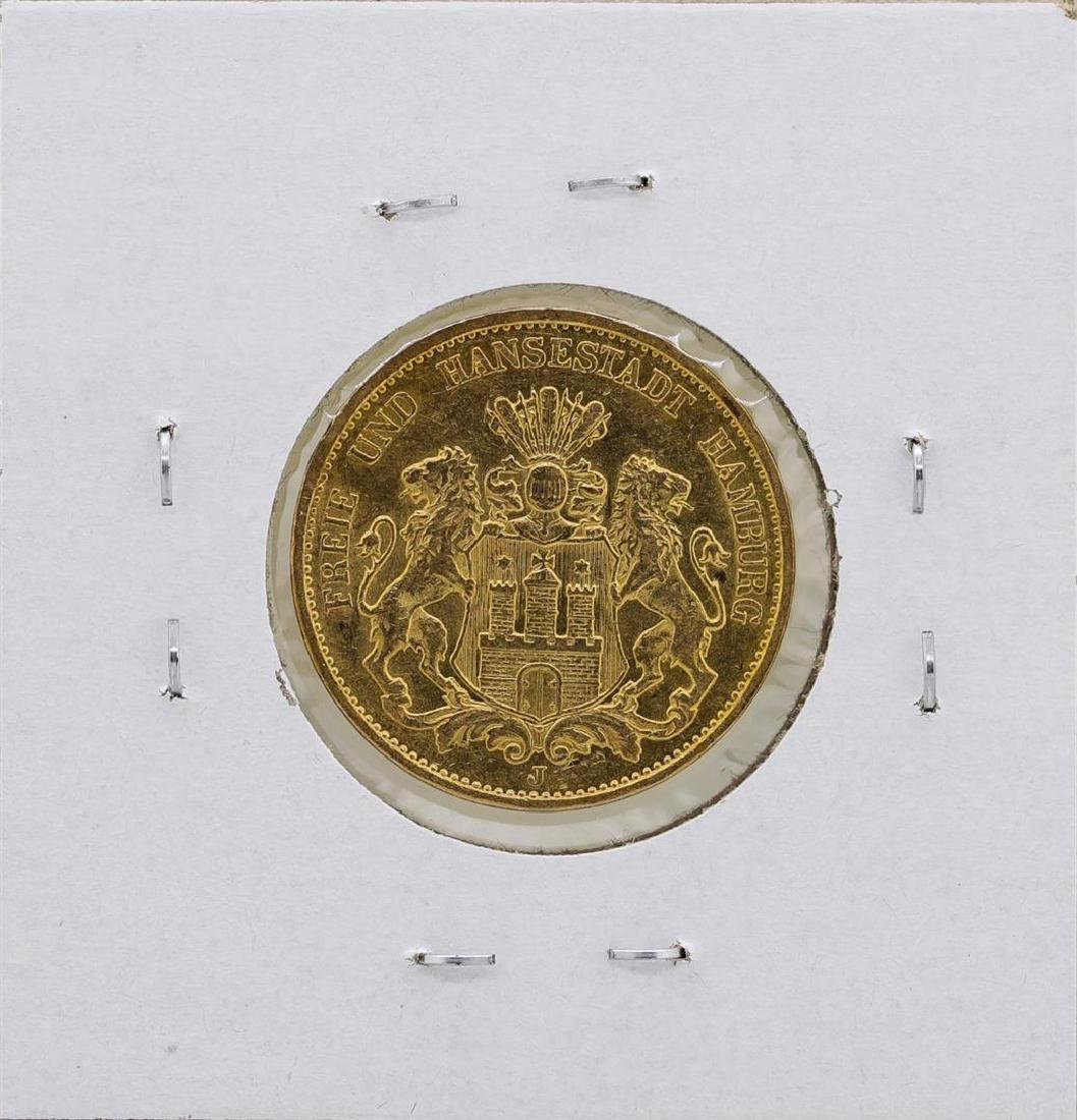 1899-J Hamburg 20 Mark Gold Coin - 2