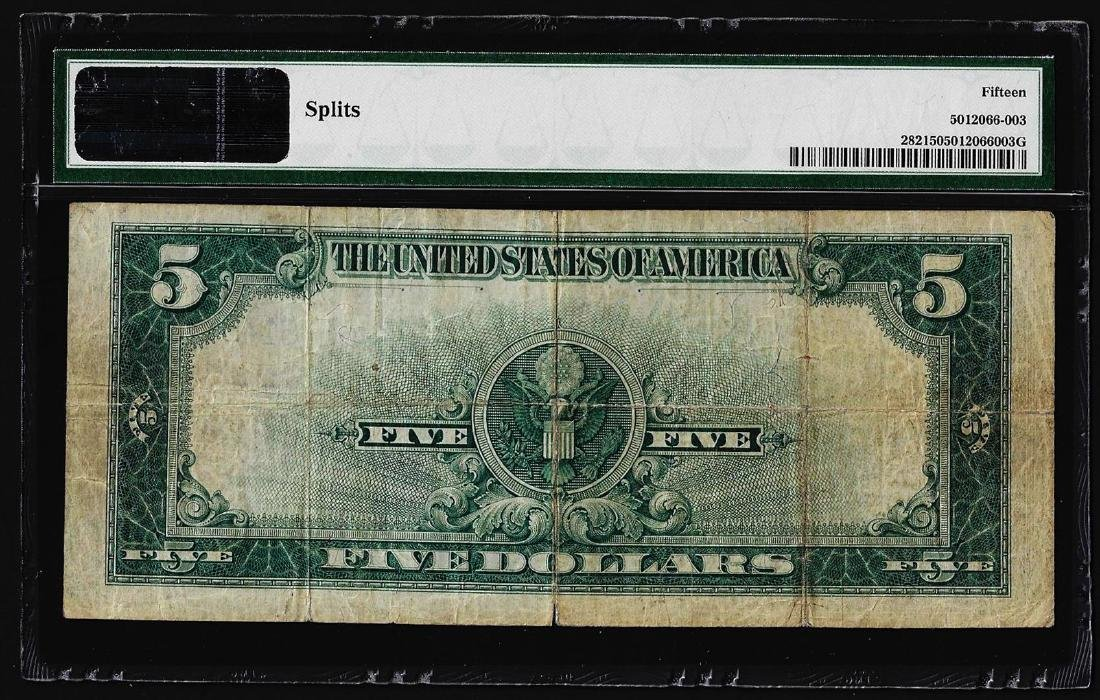 1923 $5 Porthole Silver Certificate Note Fr.282 PMG - 2