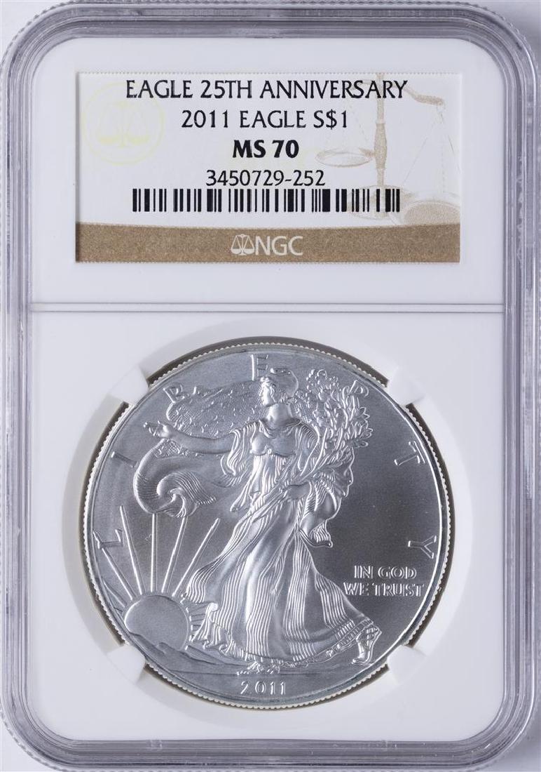 2011 $1 American Silver Eagle 25th Anniversary Dollar