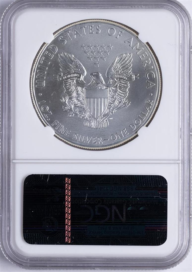 2011 $1 American Silver Eagle 25th Anniversary Dollar - 2