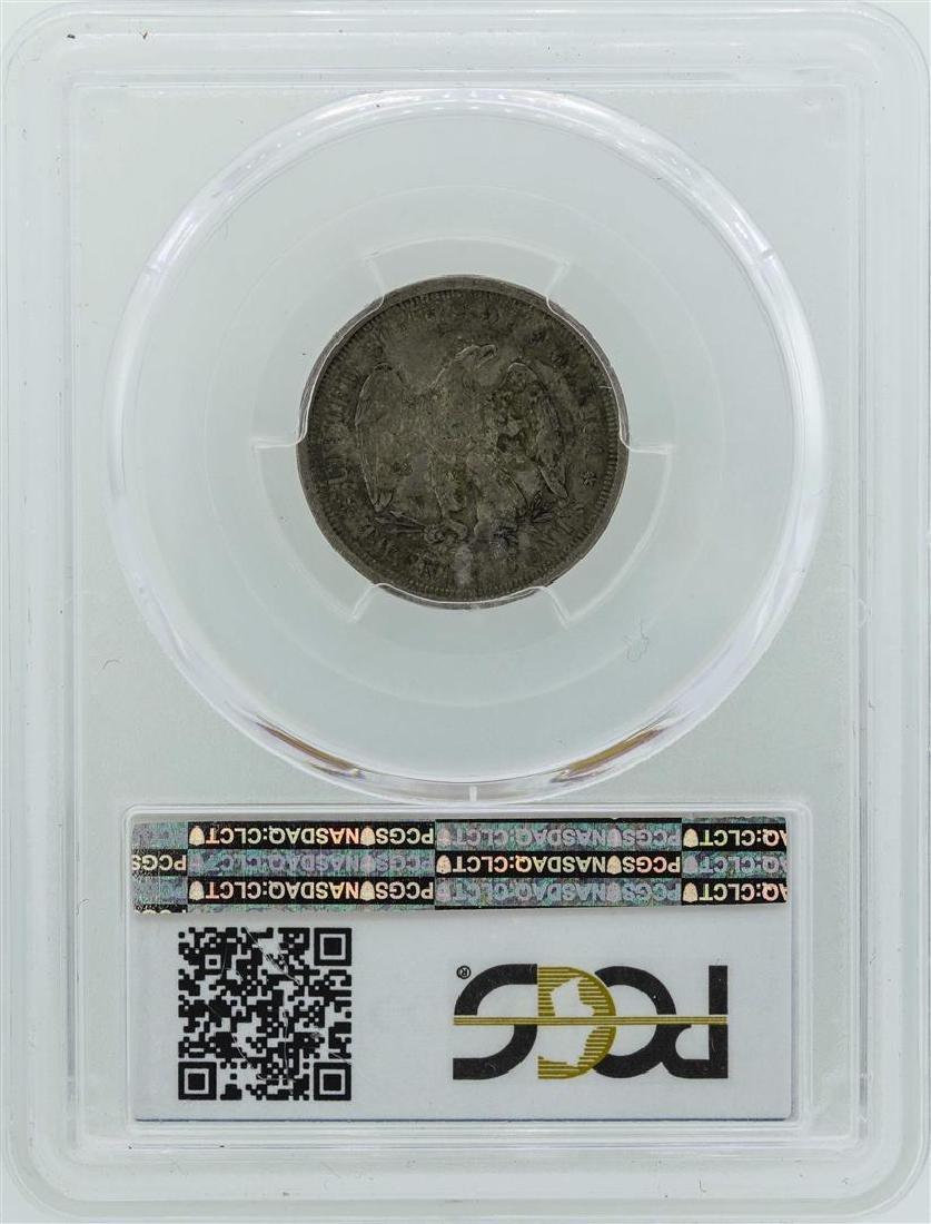 1875-S Seated Liberty Twenty Cent Piece Coin PCGS XF45 - 2