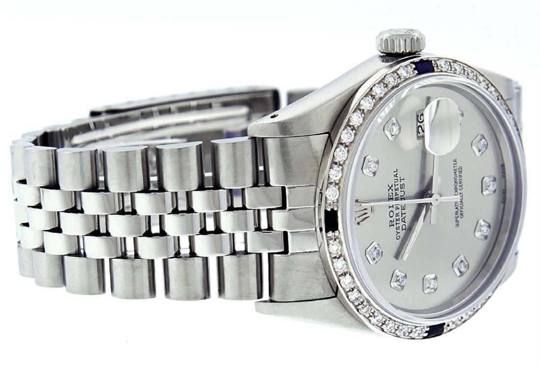 Rolex Men's Stainless Steel Gray Diamond & Sapphire - 3
