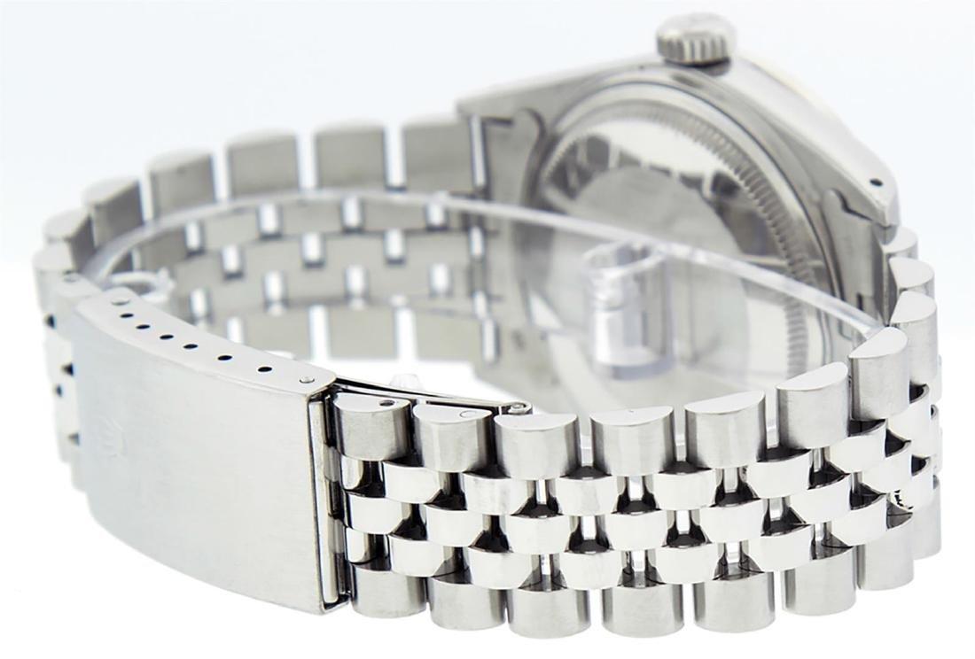 Rolex Men's Stainless Steel Gray Diamond & Sapphire - 7