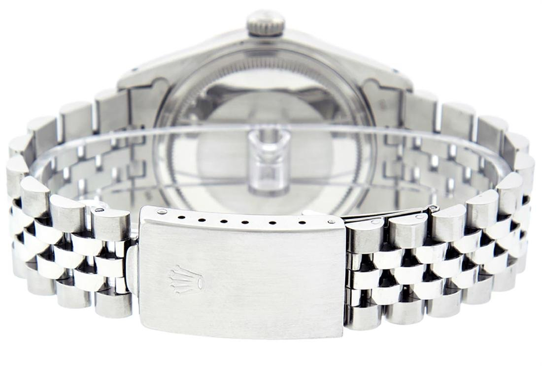 Rolex Men's Stainless Steel Gray Diamond & Sapphire - 8