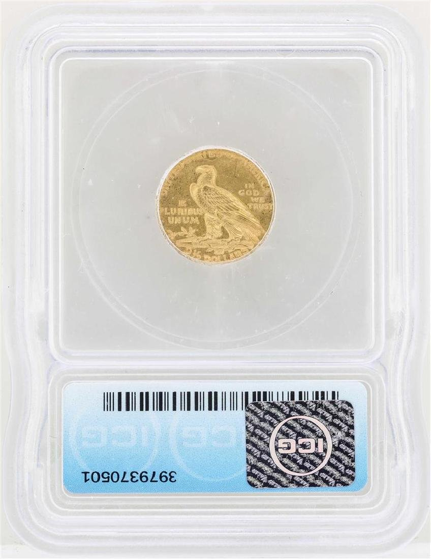 1911-D $2 1/2 Indian Head Quarter Eagle Gold Coin ICG - 2