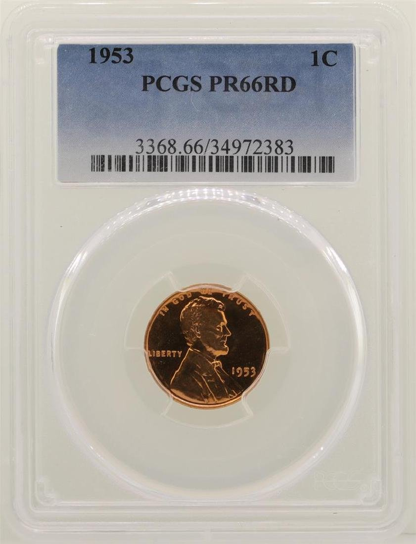 1953 Lincoln Wheat Cent Proof Coin PCGS PR66RD