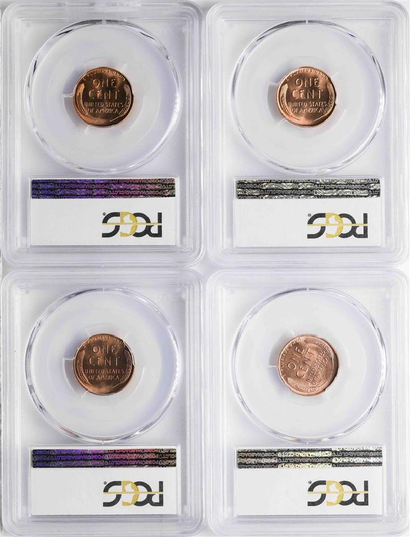 Lot of 1951-1954 Lincoln Wheat Cent Coins PCGS MS65RD - 2