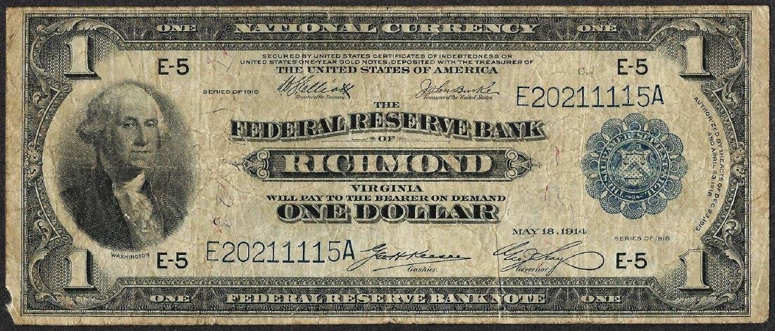1918 $1 Federal Reserve Bank Note Richmond
