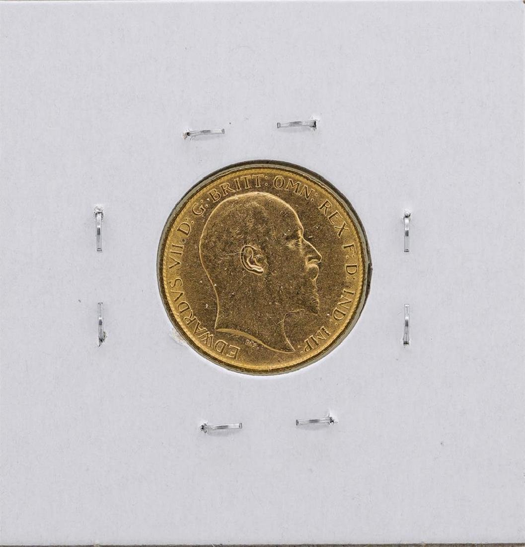 1903 Great Britain 1/2 Sovereign Gold Coin - 2