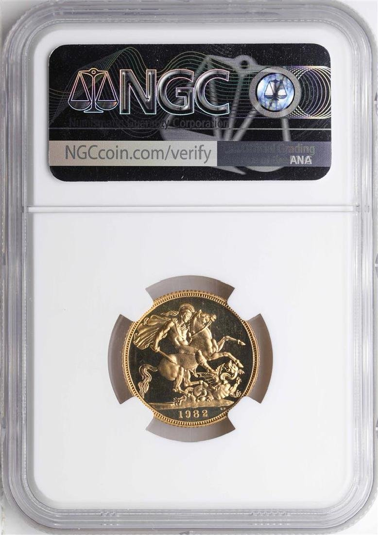 1982 Great Britain Sovereign Gold Coin NGC PF67 Ultra - 2