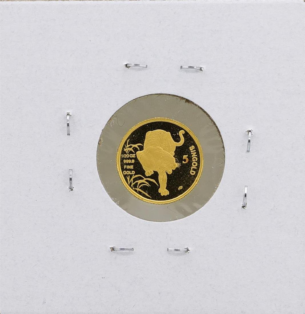 1986 Singapore 1/20 Oz. Gold Coin Year of the Tiger